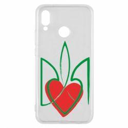 Чехол для Huawei P20 Lite Серце з гербом - FatLine