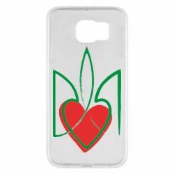 Чехол для Samsung S6 Серце з гербом