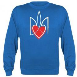 Реглан (свитшот) Серце з гербом - FatLine
