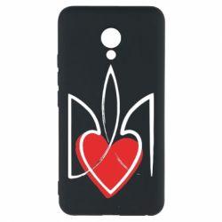 Чехол для Meizu M5 Серце з гербом - FatLine