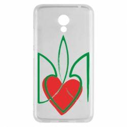 Чехол для Meizu M5c Серце з гербом - FatLine