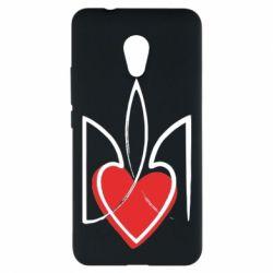 Чехол для Meizu M5s Серце з гербом - FatLine