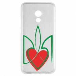 Чехол для Meizu Pro 6 Серце з гербом - FatLine