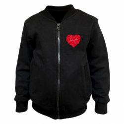 Детский бомбер Сердце и надпись Любимой