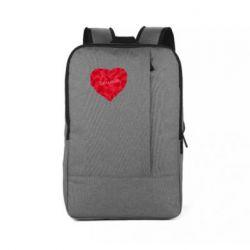 Рюкзак для ноутбука Сердце и надпись Любимой