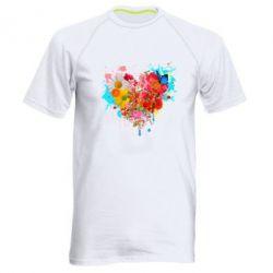 Женская футболка Сердце из цветов