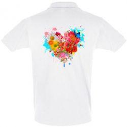 Женская футболка с V-образным вырезом Сердце из цветов