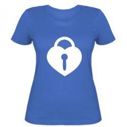Женская футболка Сердце со скважиной - FatLine