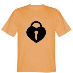 Мужская футболка Сердце со скважиной - FatLine