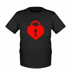 Детская футболка Сердце со скважиной - FatLine
