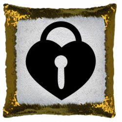 Подушка-хамелеон Сердце со скважиной