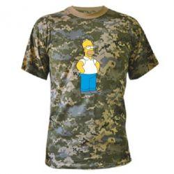 Камуфляжная футболка Серьезный Homer - FatLine