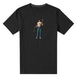 Мужская стрейчевая футболка Serious Sam with guns