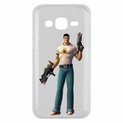 Чехол для Samsung J2 2015 Serious Sam with guns