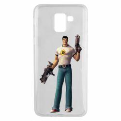Чехол для Samsung J6 Serious Sam with guns