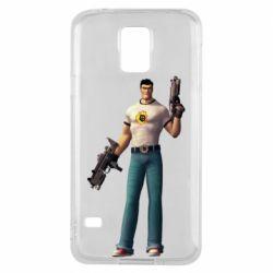 Чехол для Samsung S5 Serious Sam with guns