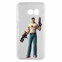 Чехол для Samsung S6 EDGE Serious Sam with guns