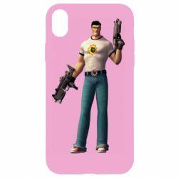 Чехол для iPhone XR Serious Sam with guns