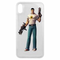 Чехол для iPhone Xs Max Serious Sam with guns