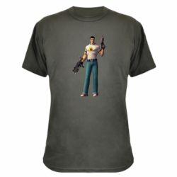 Камуфляжная футболка Serious Sam with guns