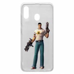Чехол для Samsung A20 Serious Sam with guns