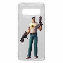 Чехол для Samsung S10 Serious Sam with guns
