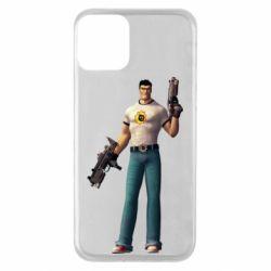 Чехол для iPhone 11 Serious Sam with guns