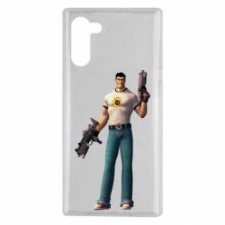 Чехол для Samsung Note 10 Serious Sam with guns