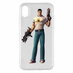 Чехол для iPhone X/Xs Serious Sam with guns