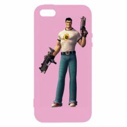 Чехол для iPhone5/5S/SE Serious Sam with guns