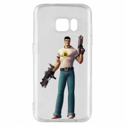 Чехол для Samsung S7 Serious Sam with guns