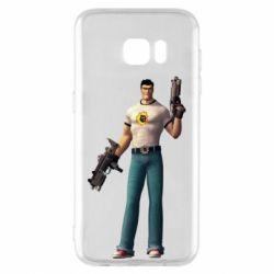 Чехол для Samsung S7 EDGE Serious Sam with guns