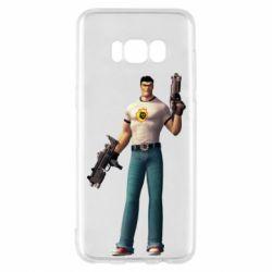 Чехол для Samsung S8 Serious Sam with guns