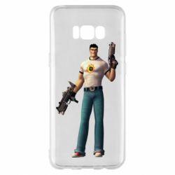 Чехол для Samsung S8+ Serious Sam with guns