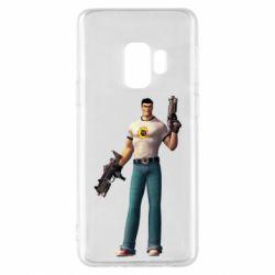 Чехол для Samsung S9 Serious Sam with guns