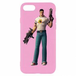 Чехол для iPhone 8 Serious Sam with guns