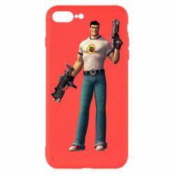 Чехол для iPhone 8 Plus Serious Sam with guns