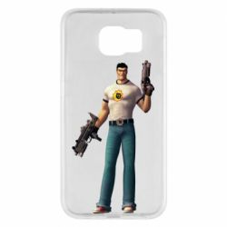Чехол для Samsung S6 Serious Sam with guns