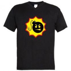 Мужская футболка  с V-образным вырезом Serious Sam - FatLine