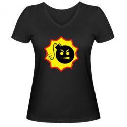 Женская футболка с V-образным вырезом Serious Sam - FatLine