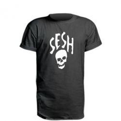 Удлиненная футболка Sesh skull