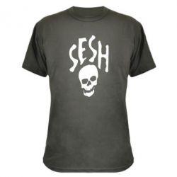 Камуфляжная футболка Sesh skull