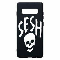 Чехол для Samsung S10+ Sesh skull