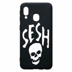 Чехол для Samsung A40 Sesh skull