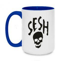 Кружка двухцветная 420ml Sesh skull