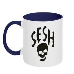 Кружка двухцветная 320ml Sesh skull