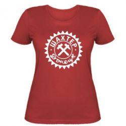 Женская футболка Шахтер Донецк - FatLine