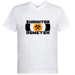 Мужская футболка  с V-образным вырезом Shakhtar Donetsk - FatLine