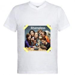 Чоловіча футболка з V-подібним вирізом Shameless