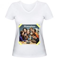 Жіноча футболка з V-подібним вирізом Shameless